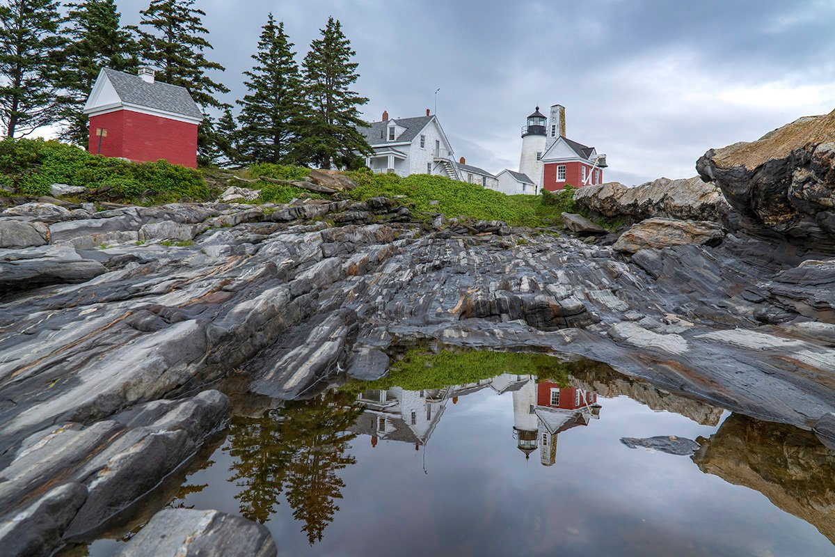 Historic Pemaquid Point Lighthouse Maine by Therese Iknoian