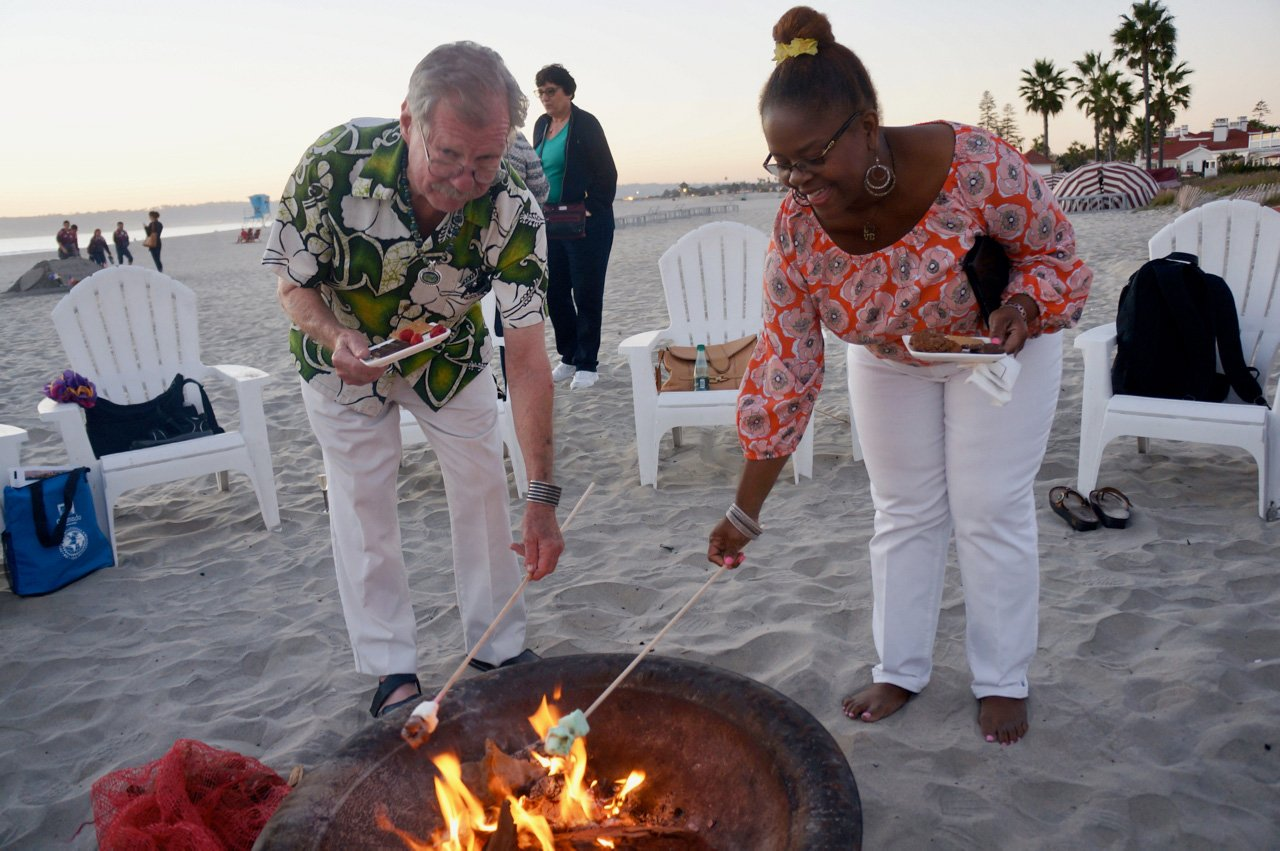 Marshmallow Roasting at the 2016 IFWTWA Conference