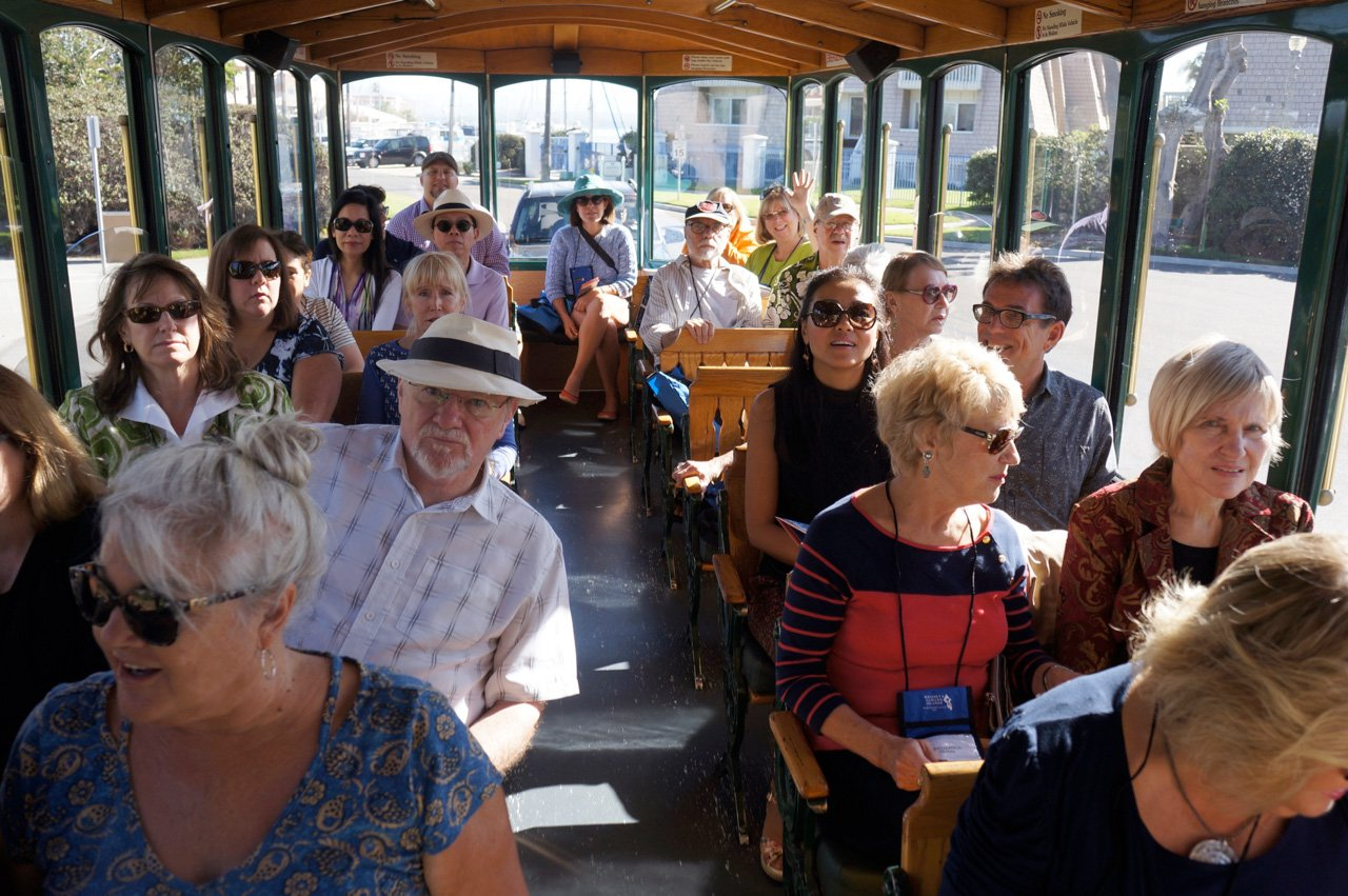 Trolley Bus Tour at the 2016 IFWTWA Conference