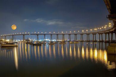 Coronado Island Bridge at Night Photo by Jesus Lazaro