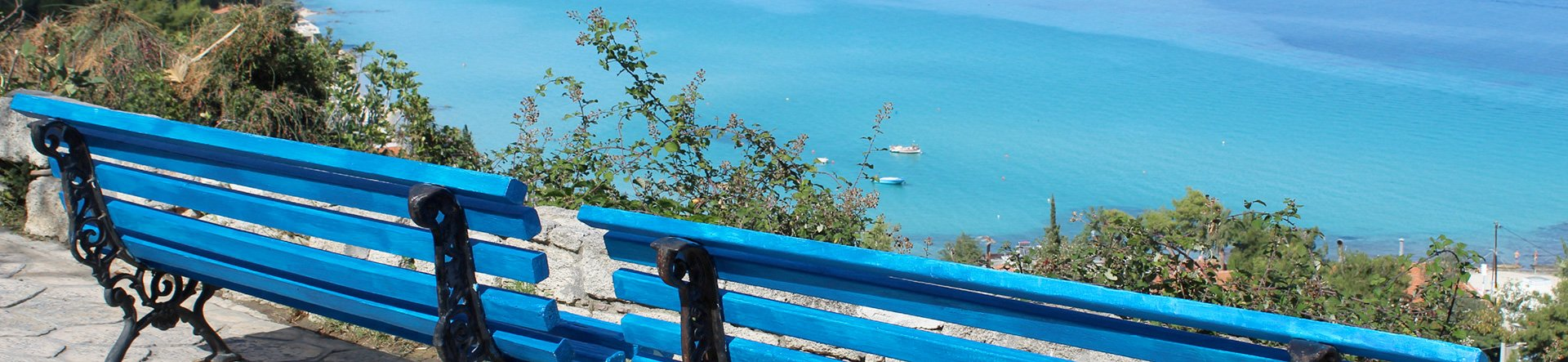 Bench Overlooking the Ocean by Sofia Bournatzi