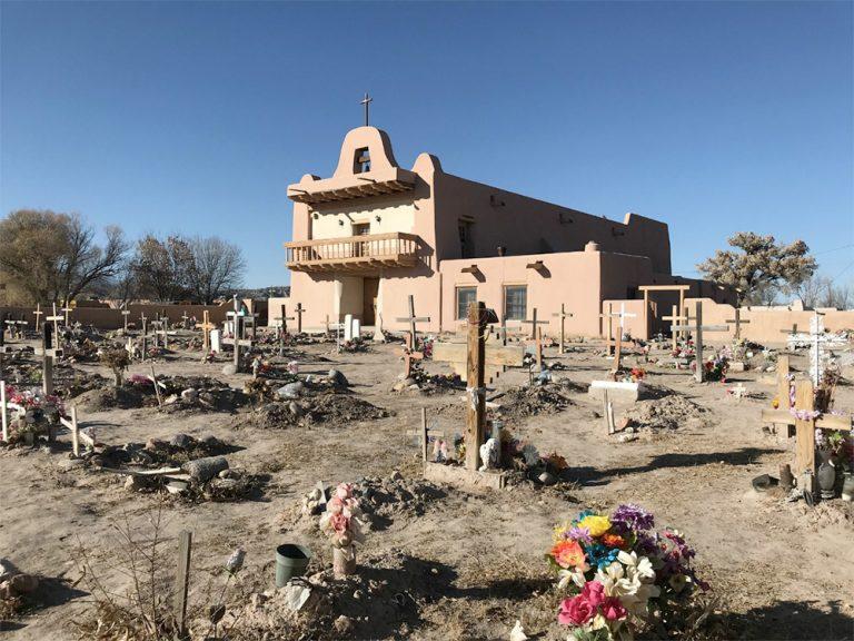 San Ildefonso Pueblo Church in Santa Fe New Mexico