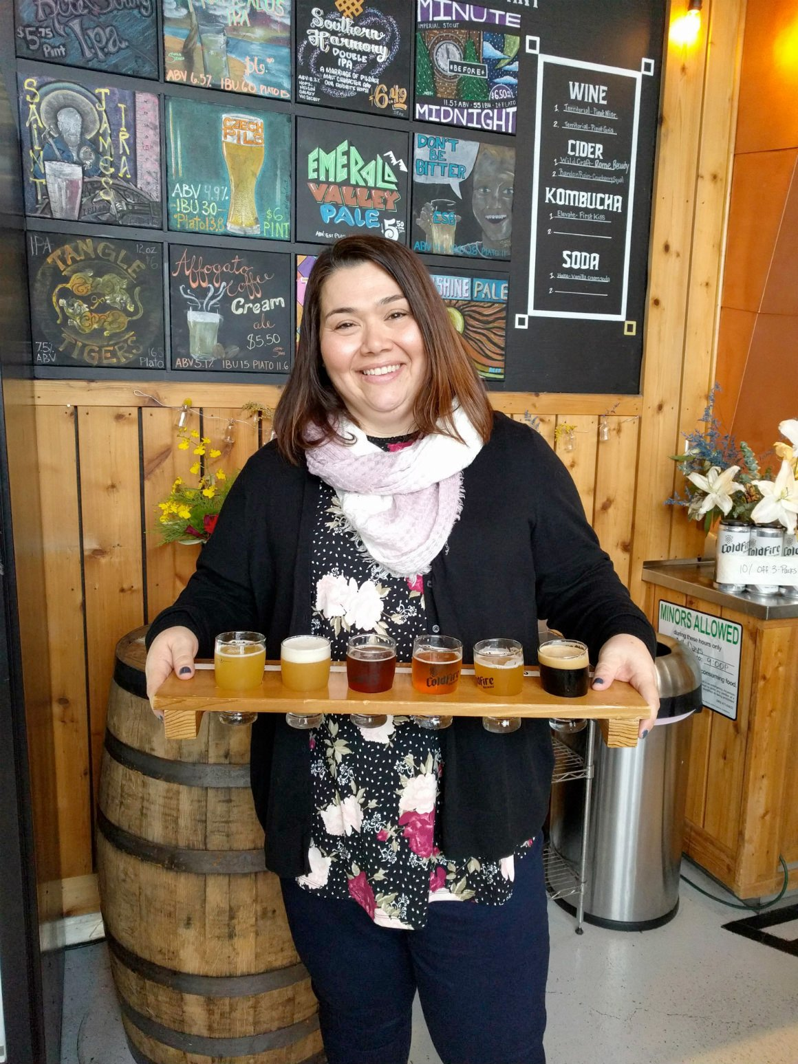 ColdFire Brewery In Eugene offers a wide variety of craft beer Image by David Nershi