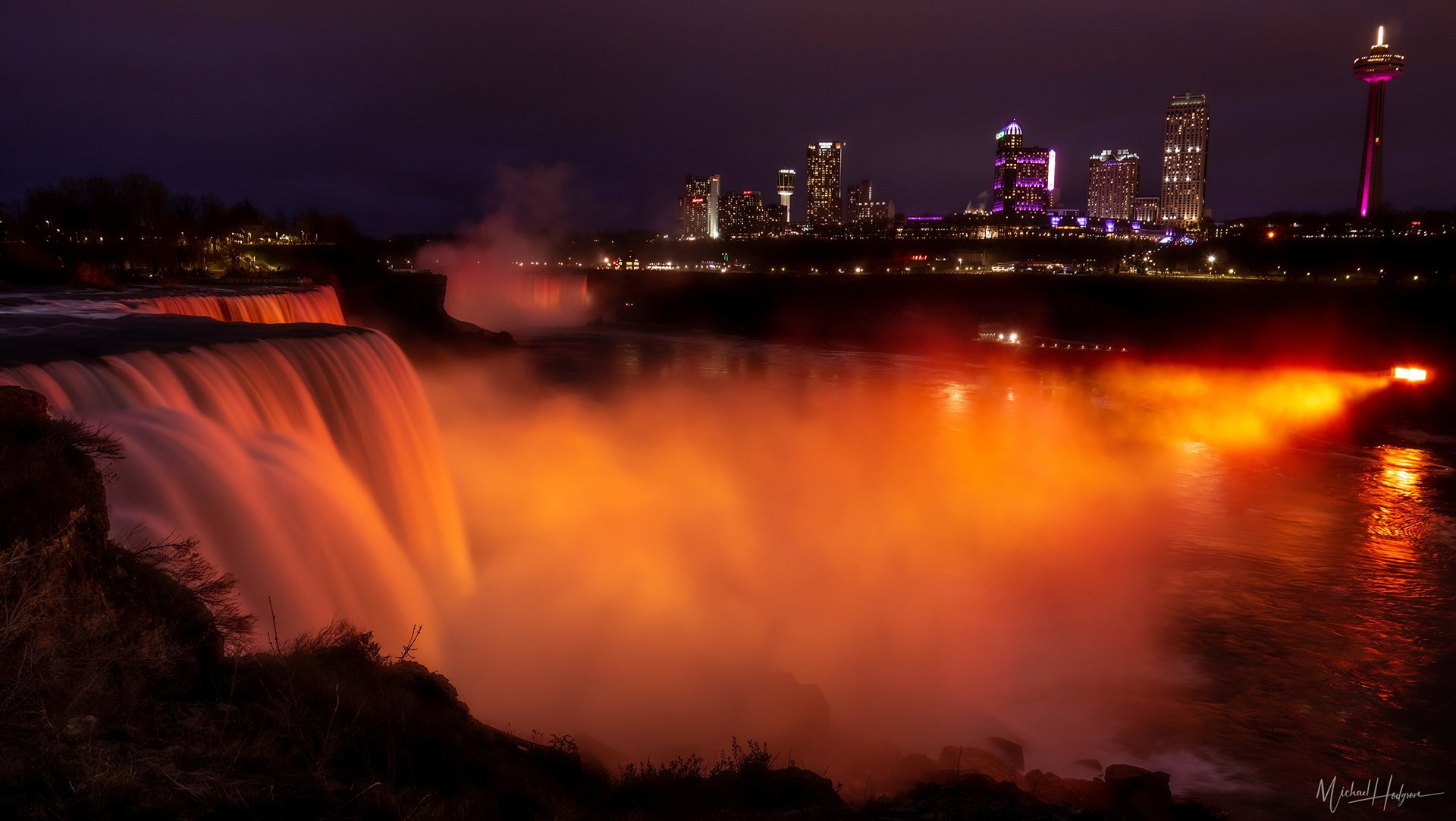 Niagara Falls Illuminated by Michael Hodgson